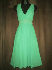 Ann Louise Roswald 50s style Green Party Dress    UK 8