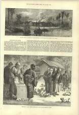 1873 Feeding Puppy Dogs  Buddhist Temple Oyama Slave Trade Village Destroyed