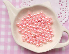 100 x 6mm Baby Pink Pearls Beads WITHOUT Holes Sprinkles Decoden - UK SELLER