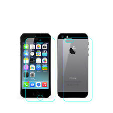 New 0.3mm Front & Back Premium Tempered Glass Protective Film For Iphone 5 5C 5S