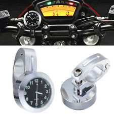 7/8'' Motorcycle Bike Handlebar Dial Clock Temp For Harley Davidson Bob Street