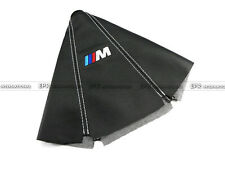 For BMW M Power MTECH Leather Gear Shift Knob Gaiter Cover (White Stitch) JDM