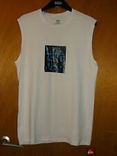 "Quiksilver 'Barricade' UPF50+ Sleeveless Top XS Chest 34-34"" White Mix BNWT"