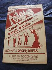 Partition Coeur Vendéen Valse Patati Patata Roger Dufas 1950