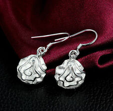 "Unique & Elegant Pure 925 Sterling Silver Rose Flower Style 1.25"" Earrings #001"