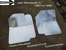 Jeep Wrangler YJ ++Highly Polished++Diamond Plate Front Floor Cover