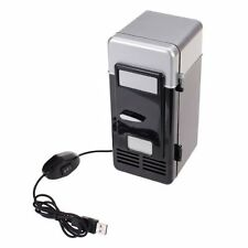 PC USB Mini Refrigerator Fridge Beverage Drink Can Cooler Warmer FK