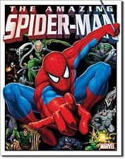 Marvel Spiderman & His Foes metal sign   420mm x 310mm (sf)