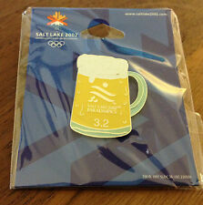 "Salt Lake City 2002 Paralympics ""3.2"" Beer Olympic Pin"