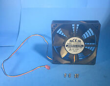 NEW 120mm Auto-Restart 3pin 2-Ball Computer Chassis DC Cooling Fan Guard UL-Safe