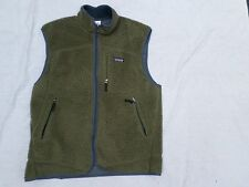 PATAGONIA Synchilla mossy green gray zip front hiking vest LARGE