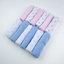 Pack de 12 baby kids soft wash cloth bain alimentation serviette flanelle essuyer