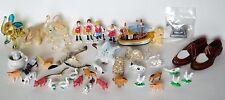 Vintage Miniature Figurines Farm Animals People Elephants Shoes Ship Cat Swan