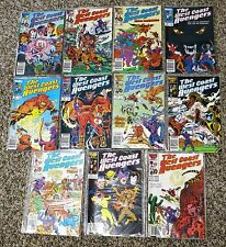 Eleven 1985 The West Coast Avengers Issue #2-17 Marvel Comic Book