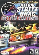 Midnight Outlaw: Illegal Street Drag -- Nitro Edition (PC) GAME DISC & MANUAL