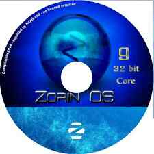 Zorin 9 CORE LTS 32 bit Laptop Desktop-PC Linux Kompletter Betriebssystem DVD