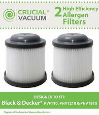 2 Black & Decker PVF110 PHV1210 Vacuum Filters 90552433 90552433-01