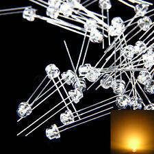 100 pcs 5mm Straw hat Warm White LED Wide Angle Light lamp Free Shipping New