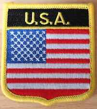 USA Shield Country Flag Embroidered PATCH Badge P1