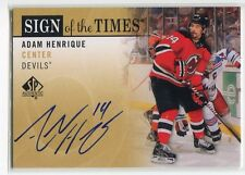 2012-13 SP Authentic Sign of the Times AH Adam Henrique Auto
