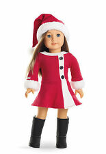 Authentic American Girl Doll Santa Claus Christmas Dress & Hat Store Exclusive