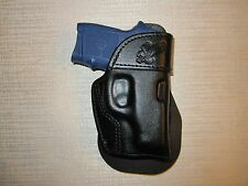 M&P BODY GUARD 380 NO LASER, PADDLE HOLSTER, LEATHER OWB HOLSTER RIGHT HAND