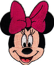 DISNEY-MINNIE MOUSE w/PINK HAIR BOW-Iron On Applique Patch/TV, Movie,Cartoons