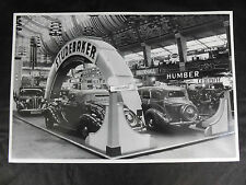 """12 By 18"""" Black & White Picture - 1935 Studebaker Auto Show"""