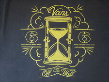Vans Off the Wall Vintage Black T Shirt 100% Cotton Gold Graphics  Size M