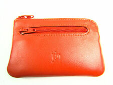 Ladies Mens Small Premium Super Soft Leather Coin Purse Key Holder Credit Card
