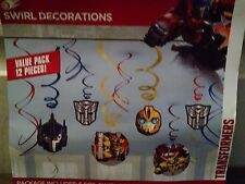 American Greetings Transformers Swirl Hanging Party Decorations New 2014
