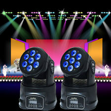 7x10W RGBW 4in1 CREE LED Mini Moving Head DJ Disco Stage Party Effect Lighting