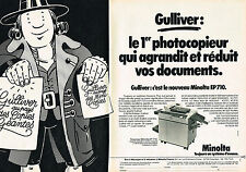 PUBLICITE ADVERTISING 024   1980   MINOLTA  photocopieur EP710  GULLIVER ( 2 pag