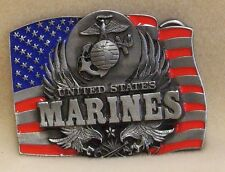 United States Marine Corps Belt Buckle Eagle, Globe, Anchor Stars and Stripes