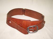 Antiguo Cinturón de piel Años 70 Culto Diseño Retro ancho, Cuero vintage