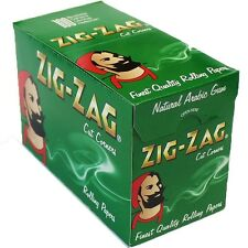 GENUINE Zig Zag Green Cigarette Rolling Papers 100 Booklets Full Box