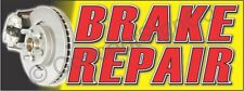 3'x8' BRAKE REPAIR BANNER LARGE Outdoor Sign Car Auto Shop Service Brakes Rotors