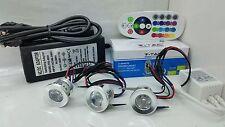 kit 3 FARETTI 3W RGB IP20 AD INCASSO  completo di centralina RGB + alimentatore