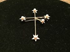 Mikimoto Tokyo 14K Yellow Gold Southern Cross with Pearls Brooch Pin