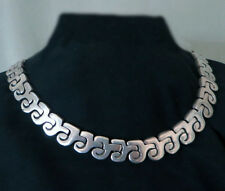 GORGEOUS VINTAGE TAXCO STERLING NECKLACE by AJH - 126 GRAMS! 16 INCHES by 13mm