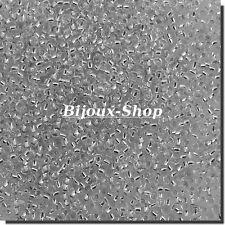 20 grs de Perles de rocailles Tchèque Cristal lined argent Marque Ornella