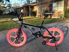 1987 GT Pro performer Pro Restored Black Pink Skyway Tuff II Mags BMX Bicycle