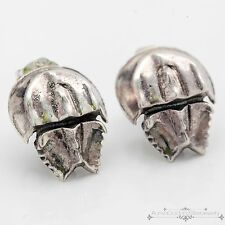 Vintage Designer Sterling Silver WTS Articulated Horseshoe Crab Womens Earrings!