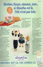 Publicité advertising 1993 Les Vetements pour enfants Absorba