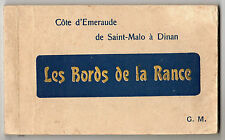 Saint Malo & Dinan - 18 Photo Postcards c1920 in Booklet