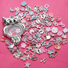 Wholesale 50pcs Charms lot Floating for Living Memory Locket Random delivery