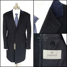 CANALI 1934 Wool Cashmere 3Btn Velvet-Collar Top Coat Jacket 52 42 L NWT