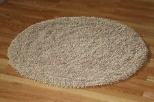 BEIGE Super Soft Cotton Ultimate Shag area Rug 4' Round plush