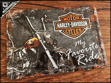 HARLEY DAVIDSON - My Fav Ride Motor Metal Postcard Mini Tin Sign Novelty Card