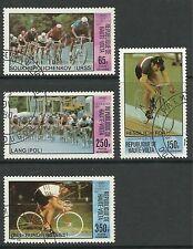 UPPER volta. 1980 Olimpiadi di Mosca-CICLISMO Set. SG: 563/6. belle usato CTO.